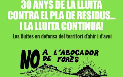 30 anys de la lluita contra el Pla de Residus